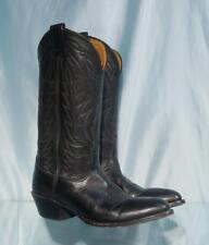 "Handsome 13"" NOCONA Black Leather Western Cowboy Boots  Sz 6.5 A"
