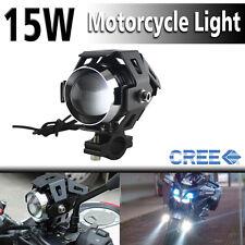 125W Moto CREE U5 LED Driving Fog Spot Light Lamp Headlight For Harley Honda BMW
