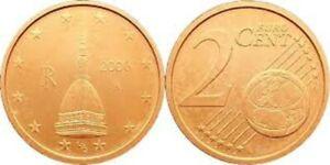 RARE 1 cent et 2 cent Italie Pièce Neuve : 2006