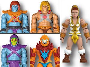 Masters of The Universe Mega Construx Set Of 5 Figures + Weapons + Comic MOC