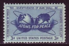 #1070 ATOMS FOR PEACE. WHOLESALE LOT OF (10) MINT SINGLES. F-VF NH!