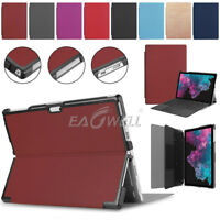 Vogue Leather Stand Slim Case Cover Skin For Microsoft Surface Pro 4 5 6 12.3""