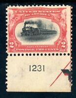 USAstamps Unused FVF US 1901 Pan-American Plate # Arrow Scott 295 OG MNH