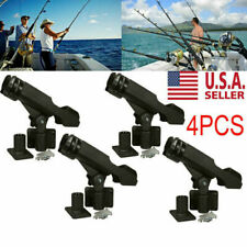 For Kayak Boat Fishing Pole Rod Holder Tackle Kit 4Pc Adjustable Side Rail Mount