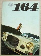 VOLVO 164 Car Sales Brochure For 1969 #RK 3484 8.68 25,000