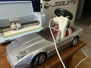 Super Corvette C4 Silver Wired Controlled Vehicle by Playmates 1985 Vintage Toy