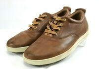 ECCO Men's Sneakers Shoes Size EU 42 US 8-8.5 Leather Brown