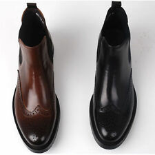 Leather Slip On Boots for Men