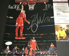 Zach LaVine Chicago Bulls Autographed Signed 8x10 Photo JSA WITNESS COA Red 1