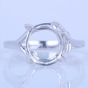 Prong Setting Oval 10x8-11x9mm Semi Mount Solitaire Sterling Silver Ring Jewelry