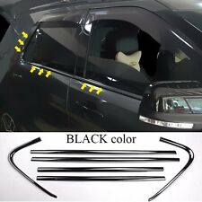 6*For 2011-17 Ford Explorer BLACK color stainless windows pillar side cover trim