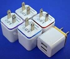 USB wall Fast Charger Adapter 1A 2A 5V  For Android / Galaxy / iPhone