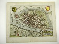 SLUIS ZEELAND NIEDERLANDE BENELUX EUROPA KUPFERSTICH GUICCIARDINI 1609 #D884S