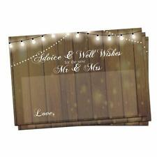 50 Rustic Wedding Advice Cards & Well Wishes for the Bride & Groom & Guest