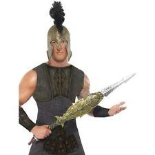Men's Teens Legends & Myths Warrior Fancy Dress Achilles Sword Gold Hand Prop