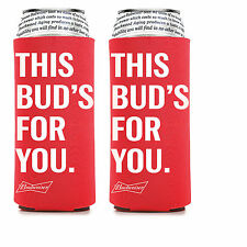 2 Pack Budweiser 25 oz Beer Koozie Coolie Hugie Cooler 24 Bud Light Tall Boy