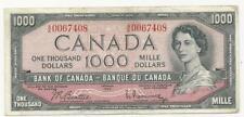 1954 Beattie-Rasminsky; - $1000 Bank note of Canada