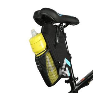 Roswheel Road Bike Bicycle Saddle Rear Seat Bag with Water Bottle Holder Black
