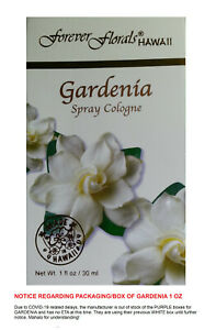 Gardenia Spray Cologne 1 oz by Forever Florals (New In Box, FREE SHIP-USA)
