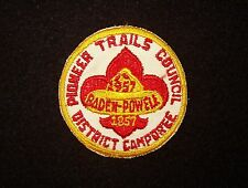 BOY SCOUT  PIONEER TRAILS CNCL  1957  BADEN POWELL  JUBILEE CAMPO  PP  PA