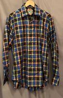 Robert Graham Men's MEDIUM Made In India Cotton/Silk Blend EUC LS Dress Shirt!