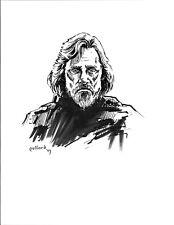 Mark Hamill Luke Skywalker original Ink drawing illustration pollard caricature