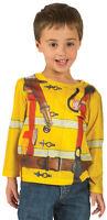 FIREMAN T-Shirt Toddler Kids Child Allover Longsleeve Tee 2T 3T 4T