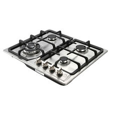 23inch Heavy Duty Stainless Steel 4 Burner Gas Hob Cooktops Battery Ignition
