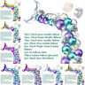 DIY Mermaid Tail Balloon Garland Set Latex Balloons Arch for Wedding Birthday2-