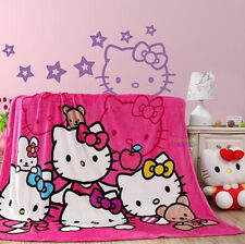 """New Design For Hello Kitty Supersoft Plush Bedroom Blanket Throw Cover 59""""x78"""""""