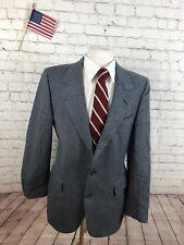 Nino Cerruti Men's Gray Herringbone Suit Size 40R 36x31 $495