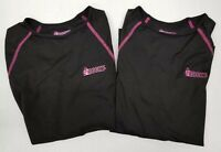 Lot of 2 Rocky Black and Pink long sleeve pullover athletic shirt women's Medium