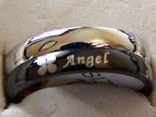 ANGEL ~  S/STEELE _SPINNER_RING_SIZE:6.5 -- (GREAT_CHRISTMAS_GIFT)