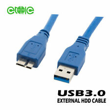 USB 3.0 Lead Cable 1.m For WD Seagate Toshiba Samsung Portable External HDD
