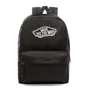 Vans Realm Off The Wall Classic Black School Backpack Rucksack Bag Uniform