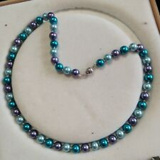 8mm multicolor Akoya Shell Pearl necklace AAA 18 inches  k029
