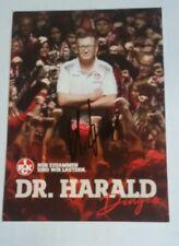 Dr. Harald Dinges (1. FC Kaiserslautern 2017/2018) selten original signiert