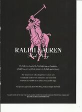 Ralph Lauren Pink Pony- 2011 (light pink) print magazine ad