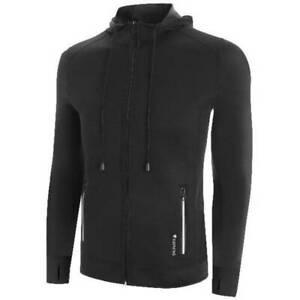 NEW SaunaFX Women's Neoprene Sauna Hooded Jacket BLACK Size L Microban Workout
