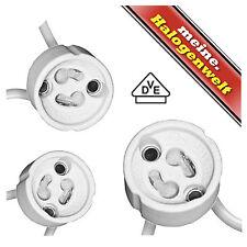 3x Fassung GU10 230V | Sockel für Halogen-Leuchtmittel Halogenstrahler LED-Lampe