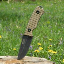 "NEW! Mtech 8"" Stonewash Blade, Tan G10 Handle Tactical Knife w/ Molle Sheath"