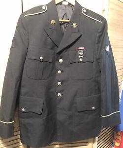 Male Army Service Uniform ASU Dress Blue Enlisted Coat Jacket 42 Regular Class