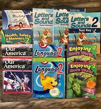 Abeka 2nd Gr Bundle/Language/Letters/Our America/Health/Science/Cursive Writing