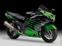 For 2012-2015  ZX14R ZZR1400 Kawasaki Metallic Green Fairings Bodywork Kit