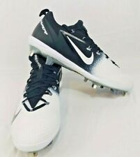 Nike Men s Vapor Lunarlon Ultrafly Elite Low Metal Baseball Cleats Wht Blk  Sz 13 c21e03cd508