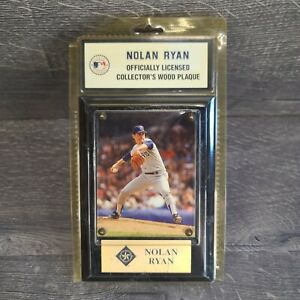 Nolan Ryan Officially Licensed Collectors Wood Plaque Texas Rangers MLB Baseball