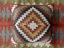 Vintage Kilim Cushion Cover 18X18 Jute Kelim Rug Pillow Cases Decorative Pillows