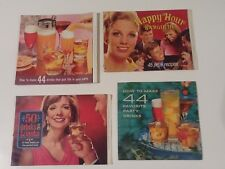 4 VINTAGE SOUTHERN COMFORT HAPPY HOUR COCKTAIL RECIPE BOOKS CIRCA 1960