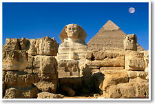 Egyptian Sphinx & Pyramid - Egypt 7 Wonders - POSTER