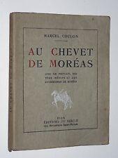 Marcel Coulon AU CHEVET DE MORÉAS Vers inédits FAC-SIMILÉS Numéroté 1926 TBE